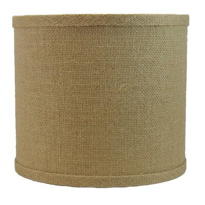 Classic 8 Burlap Drum Lamp Shade Color: Natural Burlap