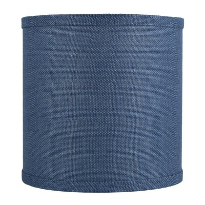 Classic 10 Burlap Drum Lamp Shade Color: Denim Blue