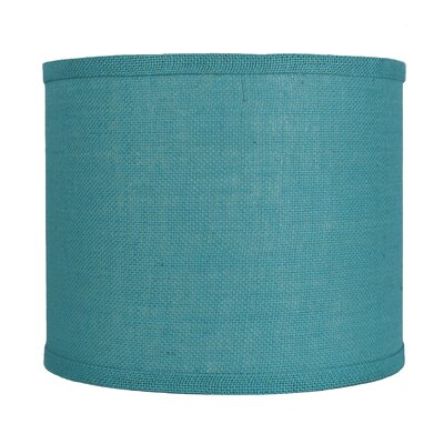Classic 12 Burlap Drum Lamp Shade Color: Spa