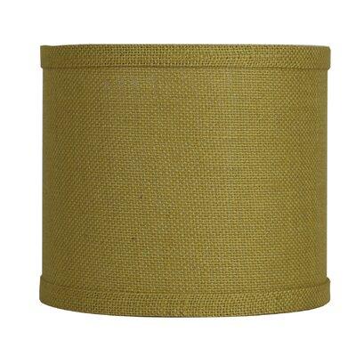 Classic 8 Burlap Drum Lamp Shade Color: Mustard Yellow
