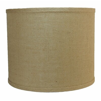 Classic 12 Burlap Drum Lamp Shade Color: Natural Burlap