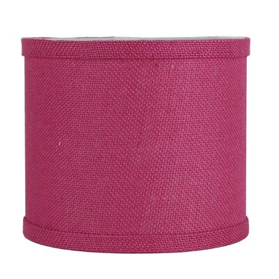 Classic 8 Burlap Drum Lamp Shade Color: Fuchsia