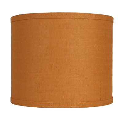 Classic 12 Burlap Drum Lamp Shade Color: Tangerine