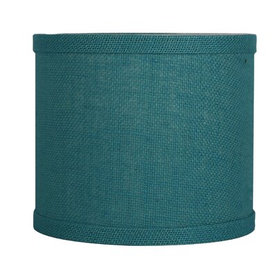 Classic 8 Burlap Drum Lamp Shade Color: Spa