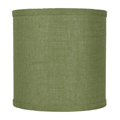 Classic 10 Burlap Drum Lamp Shade Color: Khaki Green