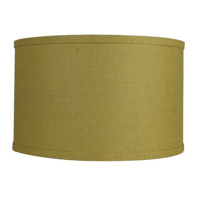 Classic 16 Burlap Drum Lamp Shade Color: Mustard Yellow