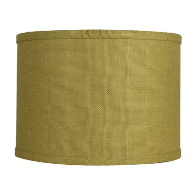 Classic 14 Burlap Drum Lamp Shade Color: Mustard Yellow