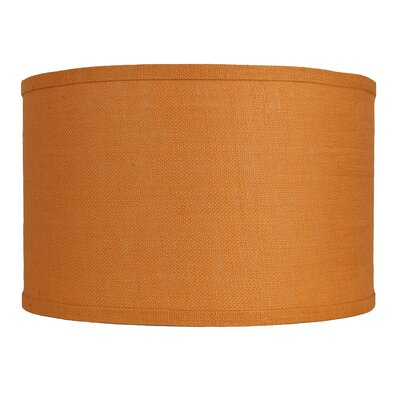Classic 16 Burlap Drum Lamp Shade Color: Tangerine