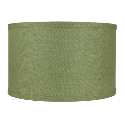 Classic 16 Burlap Drum Lamp Shade Color: Khaki Green