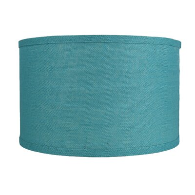 Classic 16 Burlap Drum Lamp Shade Color: Spa