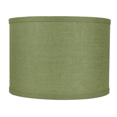 Classic 14 Burlap Drum Lamp Shade Color: Khaki Green