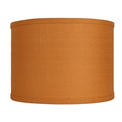 Classic 14 Burlap Drum Lamp Shade Color: Tangerine