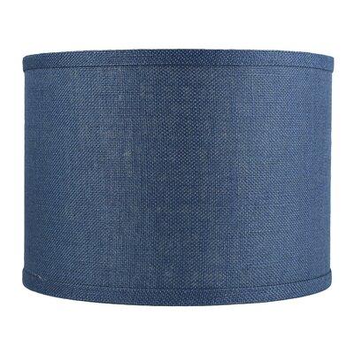 Classic 14 Burlap Drum Lamp Shade Color: Denim Blue