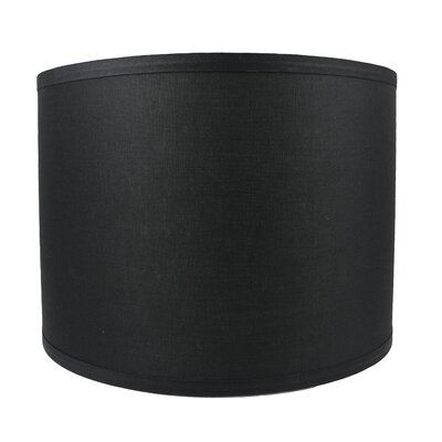 Classic Smooth 14 Linen Drum Lamp Shade Color: Black
