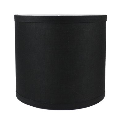Classic Smooth 8 Linen Drum Lamp Shade Color: Black