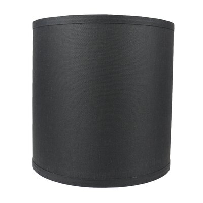 Classic Smooth 10 Linen Drum Lamp Shade Color: Black