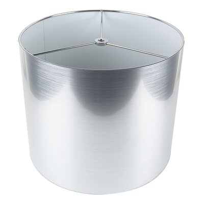 Classic 12 Drum Lamp Shade Color: Silver