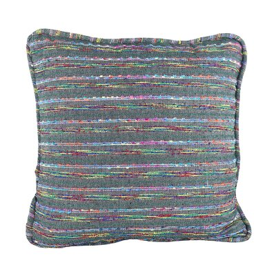 Decorative Throw Pillow Cover Size: 18 H x 18 W x 1 D, Color: Charcoal