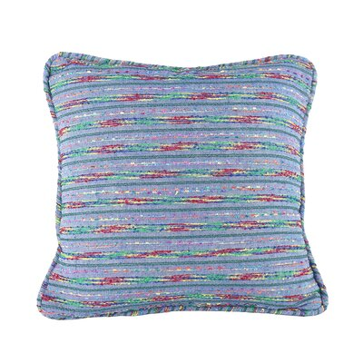 Decorative Throw Pillow Cover Size: 18 H x 18 W x 1 D, Color: Blue