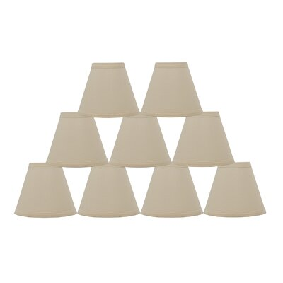 6 Linen Empire Candelabra Shade Finish: Eggshell