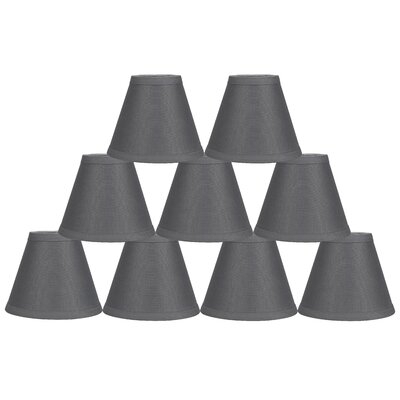 Hardback 6 Linen Empire Lamp Shade Finish: Gray