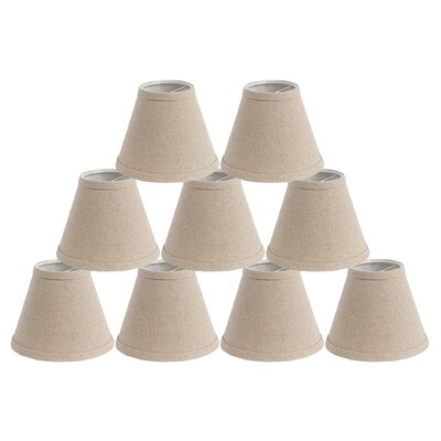 6 Linen Empire Candelabra Shade Finish: Natural