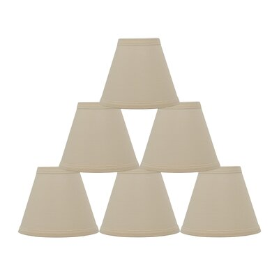 Hardback 6 Linen Empire Lamp Shade Finish: Eggshell