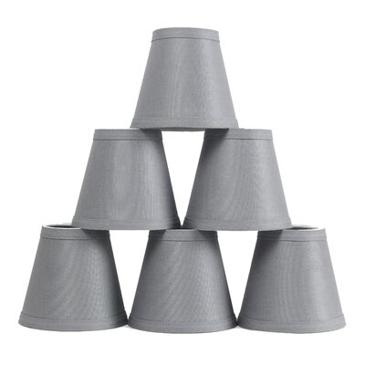 Hardback 5 Linen Empire Lamp Shade Finish: Gray