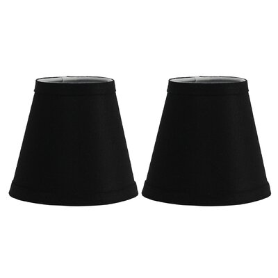 Hardback 5 Linen Empire Lamp Shade Finish: Black
