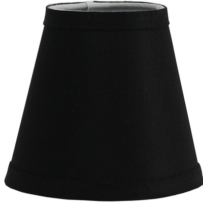 Hardback 5 Linen Empire Lamp Shade Finish: Black