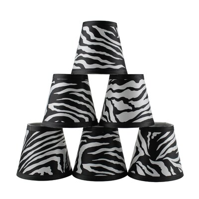5 Zebra Empire Lamp Shade with Clip-on