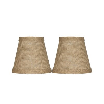 5 Burlap Empire Clip-on Candelabra Shade