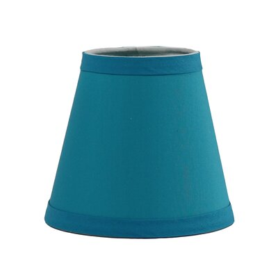 6 Cotton Empire Candelabra Shade Color: Teal