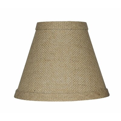 6 Burlap Empire Candelabra Shade