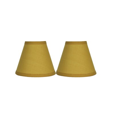 6 Cotton Empire Clip-on Lamp Shade Color: Mustard