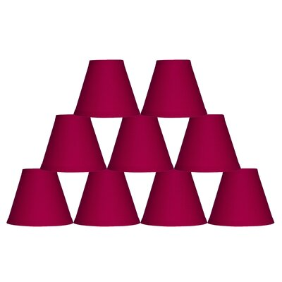 6 Cotton Empire Lamp Shade Color: Fuchsia