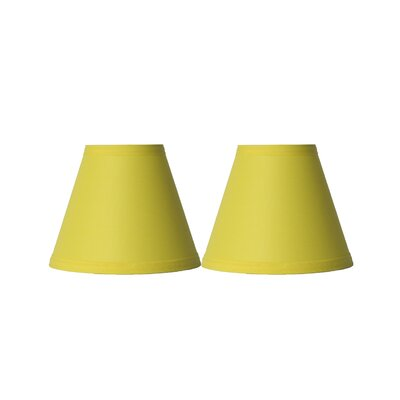 6 Cotton Empire Clip-on Lamp Shade Color: Yellow