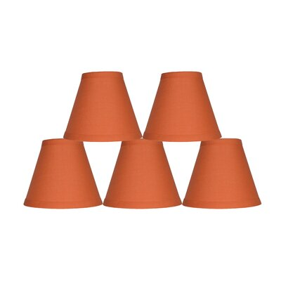 6 Cotton Empire Lamp Shade Color: Orange