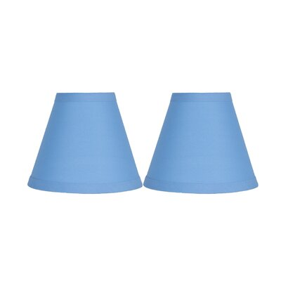 6 Cotton Empire Clip-on Lamp Shade Color: Baby Blue