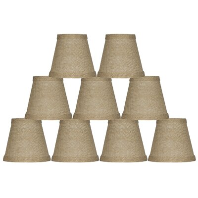 5 Burlap Empire Candelabra Shade