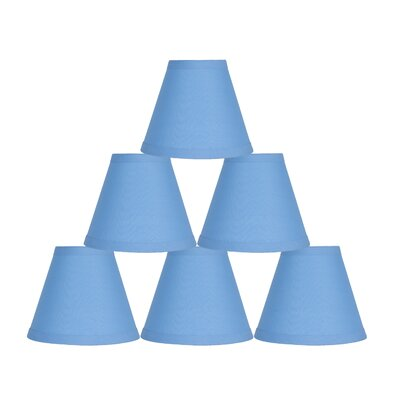 6 Cotton Empire Lamp Shade Color: Baby Blue
