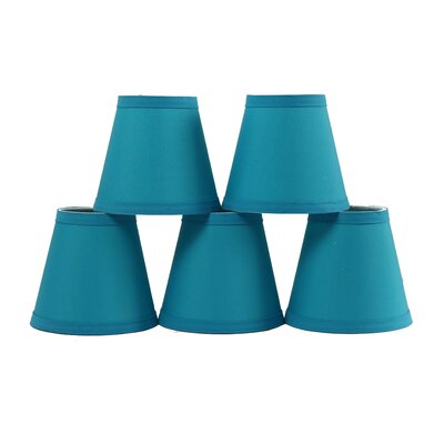 5 Cotton Hardback Empire Clip-on Candelabra Shade Color: Teal