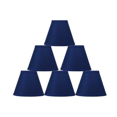 6 Cotton Empire Lamp Shade Color: Indigo