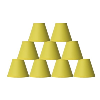 6 Cotton Empire Lamp Shade Color: Yellow