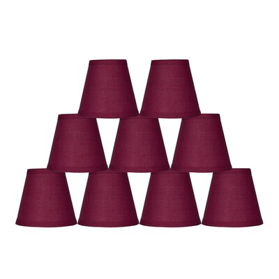 5 Cotton Empire Clip-on Candelabra Shade Color: Burgundy
