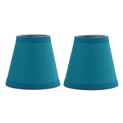 6 Cotton Empire Clip-on Lamp Shade Color: Teal