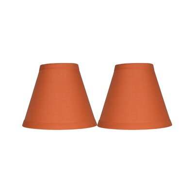 6 Cotton Empire Clip-on Lamp Shade Color: Orange