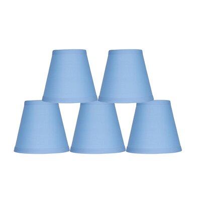 5 Cotton Hardback Empire Clip-on Candelabra Shade Color: Baby Blue