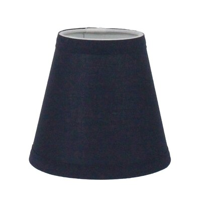 6 Cotton Empire Candelabra Shade Color: Navy Blue