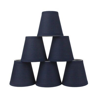 6 Cotton Empire Lamp Shade Color: Navy Blue